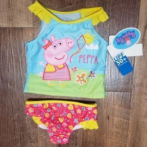 NEW!! Girls Peppa Pig 2pc. tankini swim suit